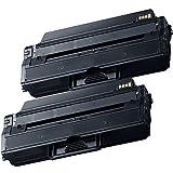 2 Inkfirst® Toner Cartridges D115L (MLT-D115L) Compatible Remanufactured for Samsung D115L Black Xpress SL-M2620 SL-M2820 SL-M2670 SL-M2870 SL-M2880FW SL-M2830DW SL-M2820DW SL-M2870FW