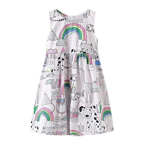 HowJoJo Girls Sleeveless Dresses Cute Cartoon Summer Skirt Dress 4T by HowJoJo (Image #7)