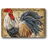 Vintage Rooster Art Doormats Floor Mat Door Mat Rug Indoor/Outdoor Mats  Welcome Doormat 23.6