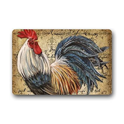 Beau Vintage Rooster Art Doormats Floor Mat Door Mat Rug Indoor/Outdoor Mats  Welcome Doormat 23.6u0026quot