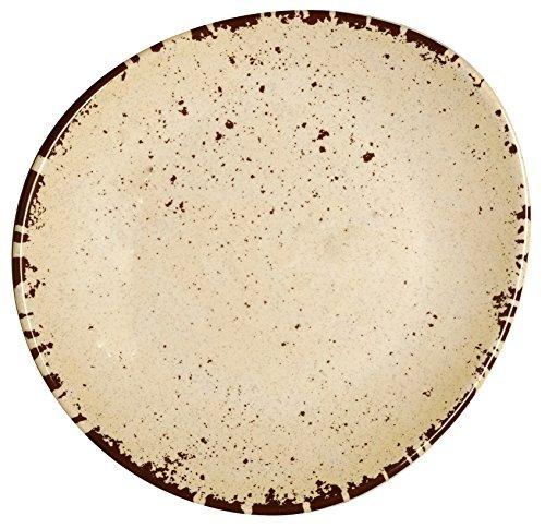 Melange 100% Melamine Rustic Egg Collection 6 Piece 11' Dinner Plates, Color - Off-White