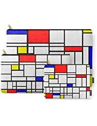 Society6 Mondrian Inspired Carry-All Pouch