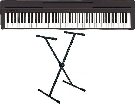 Yamaha P45 - Piano digital y soporte RTX X93, color negro ...