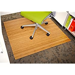 Anji Mountain Bamboo Chairmat & Rug Co. 42-Inch-by-48-Inch, 5mm Thick Roll-Up Bamboo Chairmat, No Lip, Natural