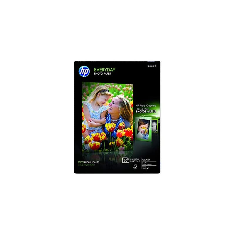 HP Photo Paper, Everyday Glossy, (5x7 in