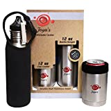 KEEPING YOUR BEER ICE COLD - Stainless Steel Can Cooler Set - Double Wall Insulated Cooler For All Standard 12 Oz Cans & Bottles + Beer Bottle Keeper- No-Sweat Ergonomic Design, Stylish & Sleek