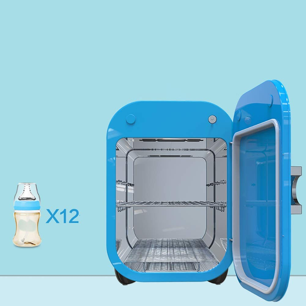 2 in 1 Baby Bottle Sterilizer Dryer UV Disinfection Cabinet Night Light Color : Blue GUO@ 22L Large Capacity Adjustable Time