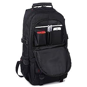 KAKA Backpack for 17-Inch Laptops - Black