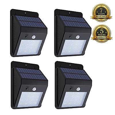 Kumeda Solar Lights Monitor Sensor Wall Light Outdoor Waterproof Solar Power Light 16 LEDs for Driveway Patio Deck Yard Garden Auto On/Off
