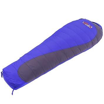 Zyx Yixin Saco de Dormir Saco de Dormir Adulto Al Aire Libre Individual Pato Pelusa Bolsas de Dormir Camping Portable 2.0 kg (Color : Azul): Amazon.es: ...