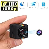 FRCAMI Hidden Camera Mini Spy Camera 1080P Full HD Night Vision Motion Sense Detection Activated with Recording Indoor & Outdoor