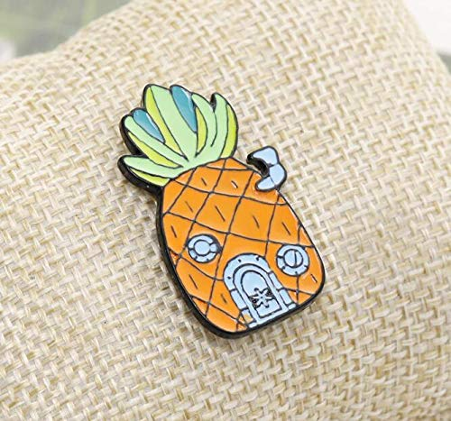 Creative Fruit Pineapple Clothing Rose Brooch (1) by Angelstore Brooch (Image #2)