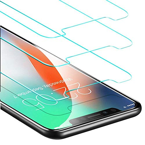 Novo Icon Screen Protector for iPhone Xs/X, 3-Pack Tempered Glass Screen Protector 3D Touch Crystal Clear Screen Protector Glass Film for iPhone X/XS