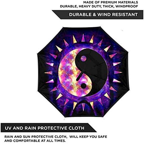禅リラクゼーション 逆さ傘 逆折り式傘 車用傘 耐風 撥水 遮光遮熱 大きい 手離れC型手元 梅雨 紫外線対策 晴雨兼用 ビジネス用 車用 UVカット