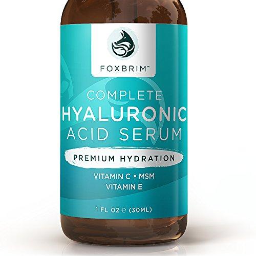 Acide hyaluronique sérum - sérum acide hyaluronique pur avec vitamine C - ingrédients naturels le thé vert, vitamine E, huile de Jojoba & hamamélis - Premium Anti vieillissement pour une durée de résultats, 1oz.