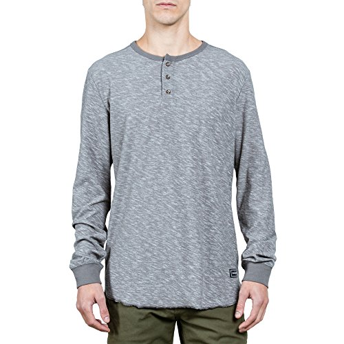 Volcom Men's Standard Moxie Long Sleeve Henley Shirt
