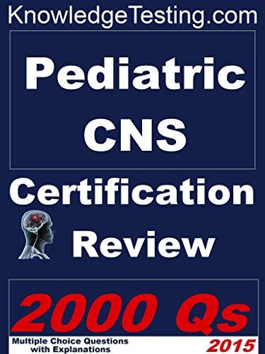 Pediatric Certified Nurse Specialist Certification Review (Certification in Pediatric Nursing Book 1) Pdf
