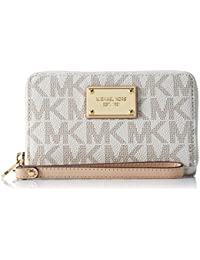 michael kors factory outlet handbags hanq  Michael Michael Kors Mk Jet Set Signature Leather Clutch