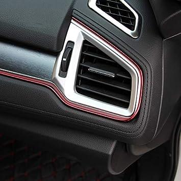 Pouybie Int/érieur de la voiture bricolage tableau de bord d/écoration ligne moulage garniture bande autocollant sortie dair atmosph/ère lumineuse PVC et Chrome 5 m