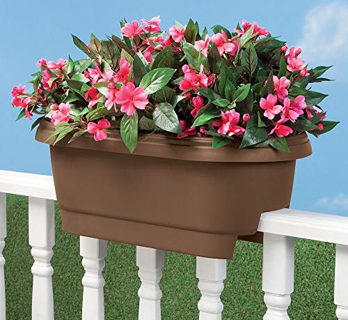 "Bloem Deck Balcony Rail Planter 24"" Chocolate"