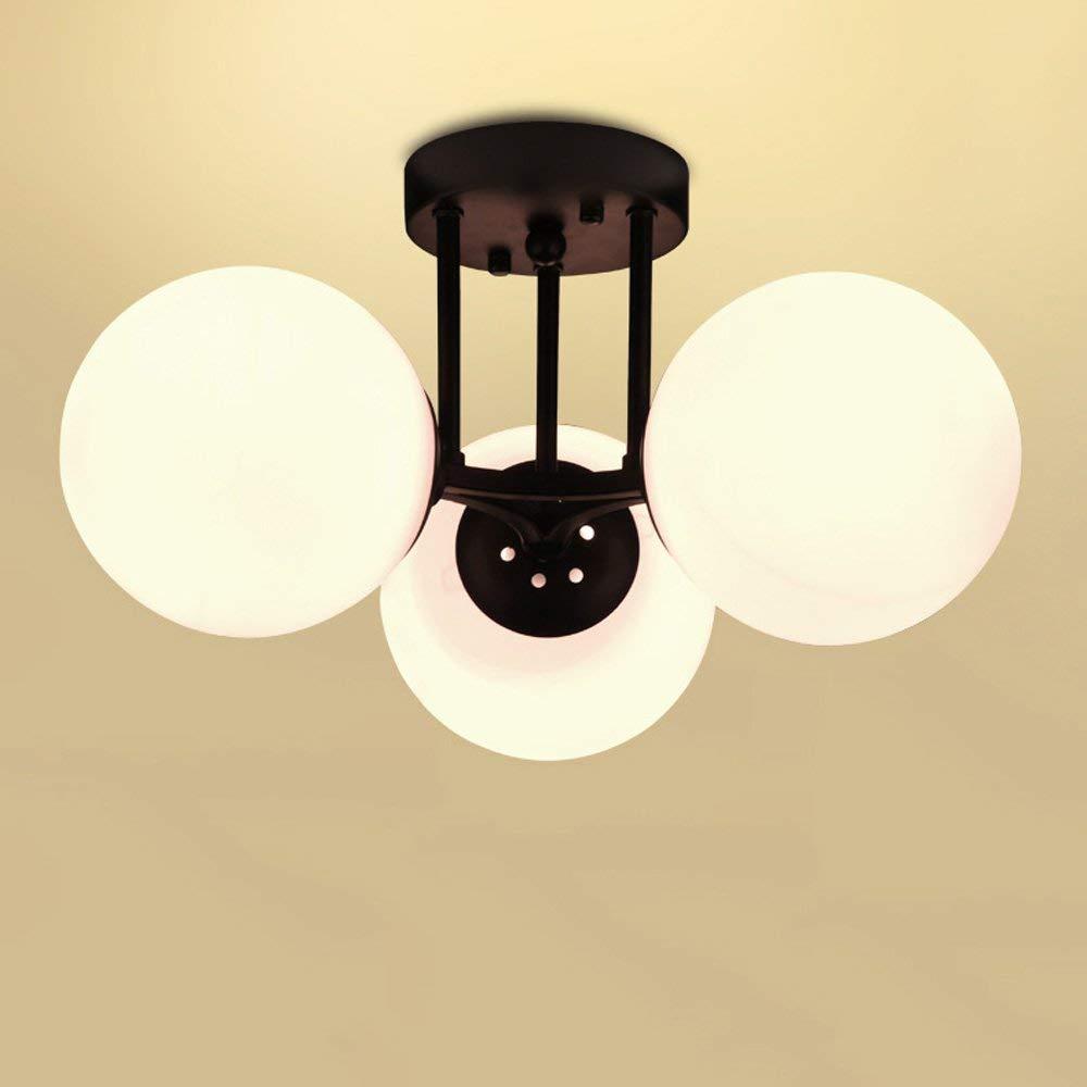 球形のガラスランプシェードLEDペンダントランプシャンデリア付きヴィラEベッドルームリビングルームベッドルーム屋内天井照明(サイズ:6ヘッド) B07S1DJXRG Three-head