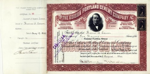 death certificate of thomas a edison