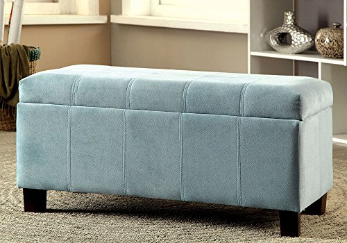 1PerfectChoice Remi Contemporary Padded Flannelette Flip Top Storage  Ottoman Bench Footstool