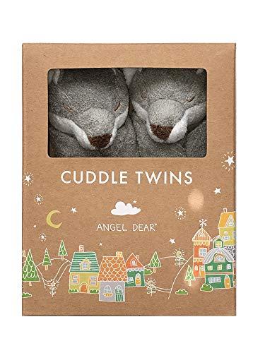 (Angel Dear Cuddle Twins Blankie, Grey Fox)