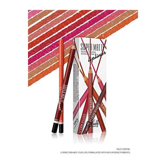 Ronzille Super Matte Lip Liner Pencil - Set of 12
