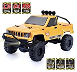 #3: RGT RC Crawlers RTR 1/24 Scale 4wd Off Road Monster Truck Rock Crawler 4x4 Mini RC Car with Lights (Yellow)