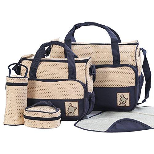 Mummy ensamblados multifuncional Bundle Combination Spaziosa Bolsos de Hombro Niños Bolsa Messenger Bag Bolsa de la compra Base embarazadas café azul oscuro