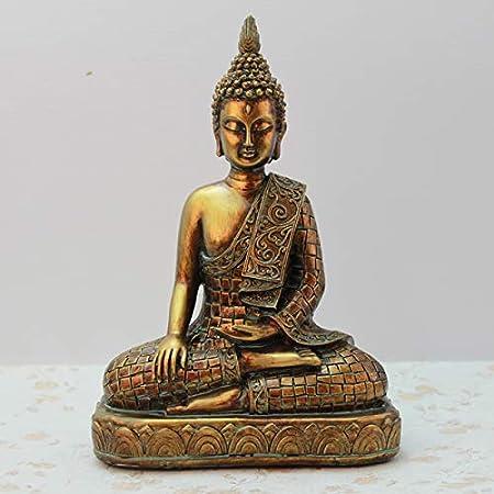 LUSU Decorativos Figuras Salon Candelabros De Jardin Exterior Miniatura Resina Artesanía Tailandesa Buda Estatua Adornos Decoración del Hogar: Amazon.es: Hogar