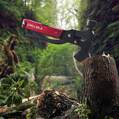 Taschenmesser, Survival Messer- Axt & Hammer, 14 In 1Multitool Schraubenzieher für Camping, Wandern, Jagdzubehör, Geschenk für männer