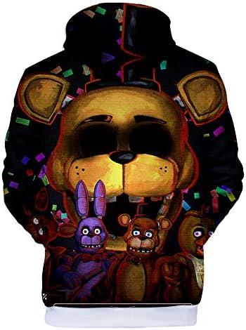 CTOOO Sweats /à Capuche Imprim/é Five Nights at Freddy Homme Ado XXS-XXXL