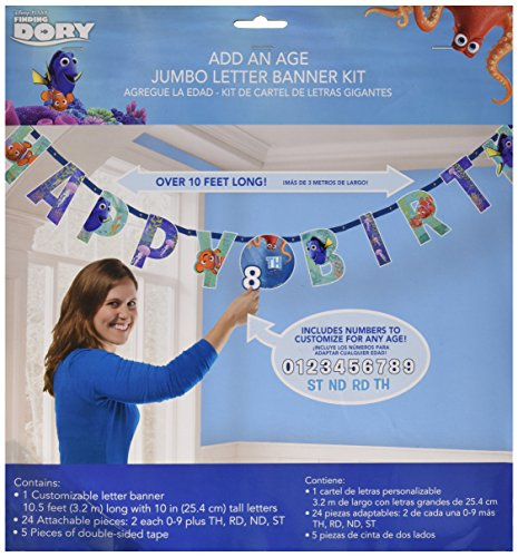 Finding Nemo Banner (Finding Dory Add An Age Banner 10.5x10 [Contains 1 Manufacturer Retail Unit(s) Per Amazon Combined Package Sales Unit] - SKU# 121594)