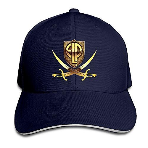 - MeiSXue Logo Emerson Lake And Palmer Sandwich Baseball Cap Navy