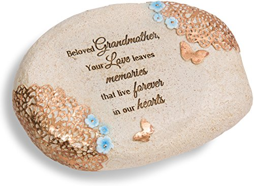 Pavilion Gift Company 19139 Light Your Way Beloved Grandmother Memorial Stone, 6 x 2-1/2″