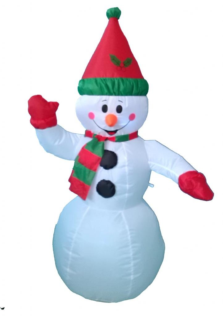 Awesome Snowman Decorations Part - 9: Amazon.com: 4 Foot Christmas Inflatable Snowman Yard Garden Decoration:  Home U0026 Kitchen