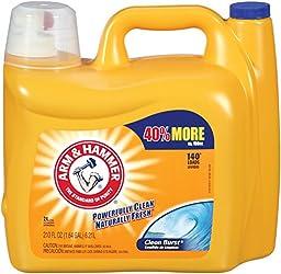 Arm & Hammer 3320000106 210oz Dual HE Clean-Burst Liquid Laundry Detergent Pack of 2