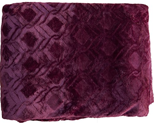Collection Flannel Embossed BLANKET Burgundy product image
