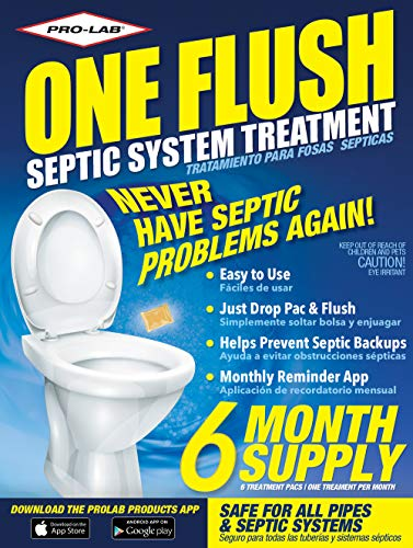 Septic Tank Treatment – 6 Month Supply of Septic Treatment- Dissolvable Septic Tank Treatment Packets – Use Septic Treatment Enzymes Packets Monthly to Prevent Expensive Septic Tank System Backups