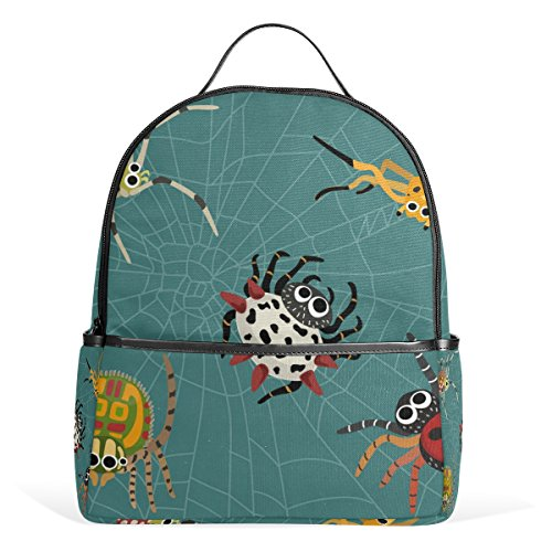Cooper girl Cute Spiders Lightweight School Backpack for Boys Girl Kids