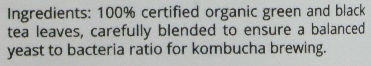 Get Kombucha, Certified Organic Kombucha Tea Blend - (60 Servings) (4oz (60 Servings)) by Get Kombucha