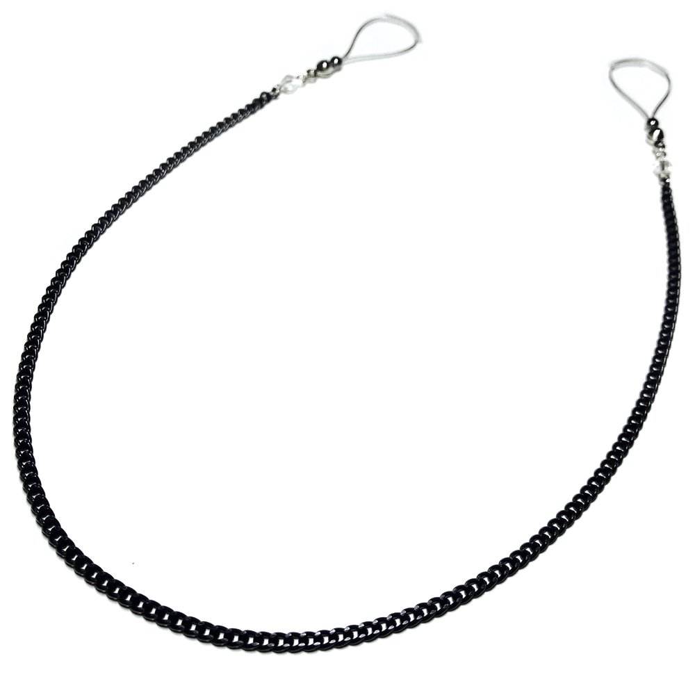 Nipple Jewelry Noose Showgirl Black Chain Hematite Adjuster Non Piercing Unpierced Non-Pierce