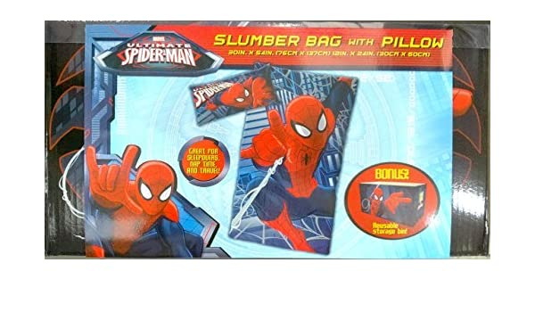 Marvel Ultimate Spider-Man bolsa de dormir con funda de almohada: Amazon.es: Hogar