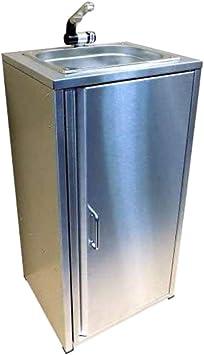 TMM Fregadero portátil de acero inoxidable, incluye accesorios/fregadero para puesto de venta para camping