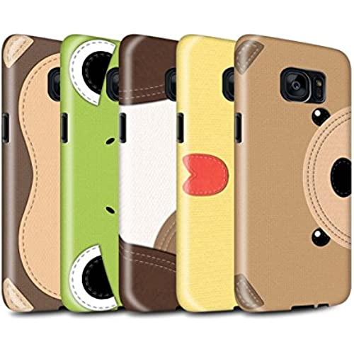 STUFF4 Gloss Tough Shock Proof Phone Case for Samsung Galaxy S7/G930 / Pack 10pcs / Animal Stitch Effect Collection Sales