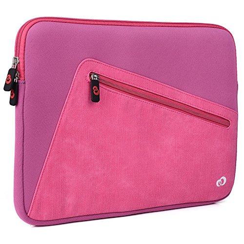Tickle Me Pink Universal Case Sleeve W/Accessory Pocket fits Apple MacBook 12, MacBook Air 13, MacBook Pro 13 (2016) Retina Display Laptop   Cover -  EnvyDeal, ND13VXP1 EN TYS2