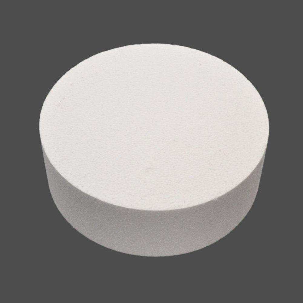 15,2/cm 10,2/cm 20,3/cm Gemini/_mall/® 3/Pi/èces rondes en Polystyr/ène avec Bord Droit pour Faux G/âteaux