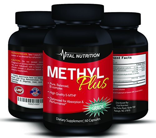 Methyl Folate 5 MTHF a Vitamin B Supreme Complex – Up to 2 Month Supply – The #1 Supplement to a Long, Healthy Life – Order Risk Free